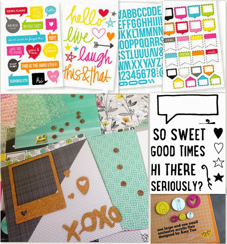 Polly! March 2014 Pocket Scrapbooking (Project Life) Kit - Jellybeans - including exclusive Amy Tangerine acrylic pieces and exclusive Mandalika Designs stamps