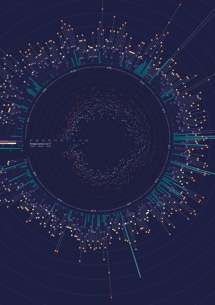Weather Eindhoven 2014 infographic on Behance