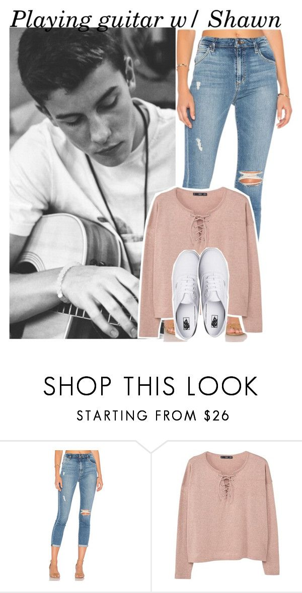 """Playing Guitar w/ Shawn"" by mikkielaine ❤ liked on Polyvore featuring Joe's Jeans, MANGO and Vans"