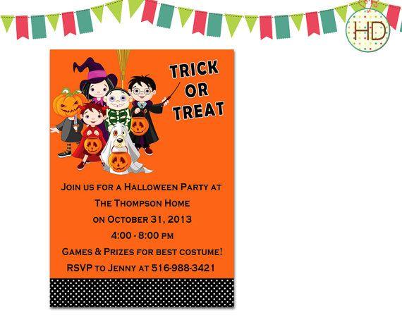Halloween Invitation, Halloween Party Invitation, Halloween Printable, Halloween Birthday Party, Kids Halloween Invite on Etsy, $10.00