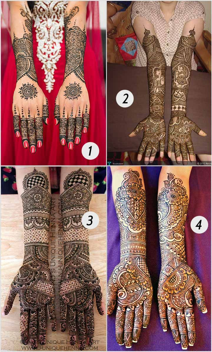 Attractive dulhan henna mehndi design for full hand - 14 Stunning Bridal Mehndi Designs For Hands