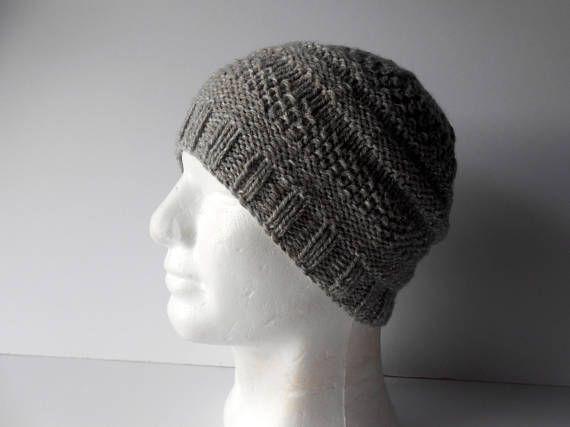 Men's Beanie hat gray beanie hats for men knit grey beanie