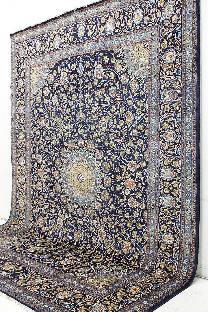Bilder för 361447. MATTA, Persisk, blå Kashmar, (fine), 400 x 302 cm. – Auctionet