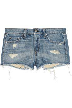 Rag & bone JEAN   Mila distressed denim shorts   NET-A-PORTER.COM