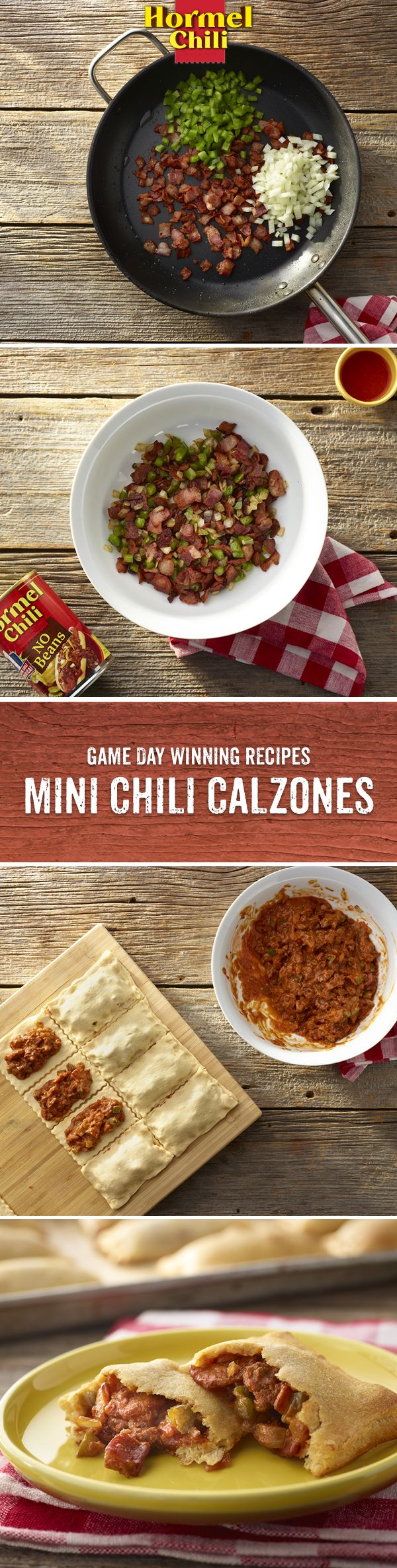 Prep for the game with Mini Chili Calzones with major HORMEL® Chili taste.