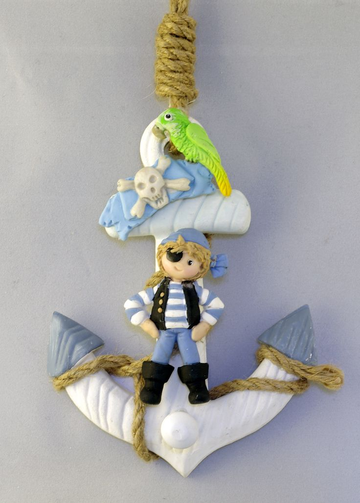 Ahoy matey! Pirate hanger for boys room