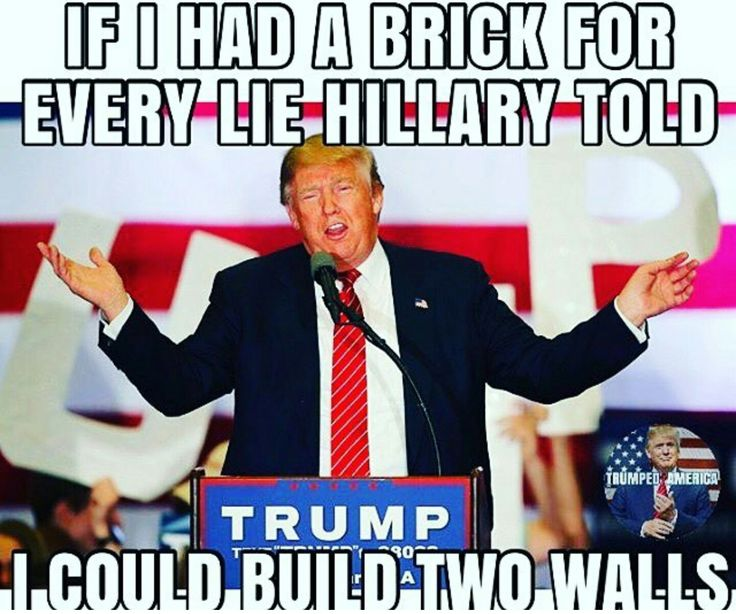 If you had a brick for every lie Cheeto face told their would be no bricks left to build anything else.