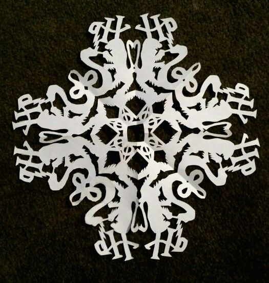 Decided To Design My Own Harry Potter Snowflake Let S Get Creative Christmas Tree Diy