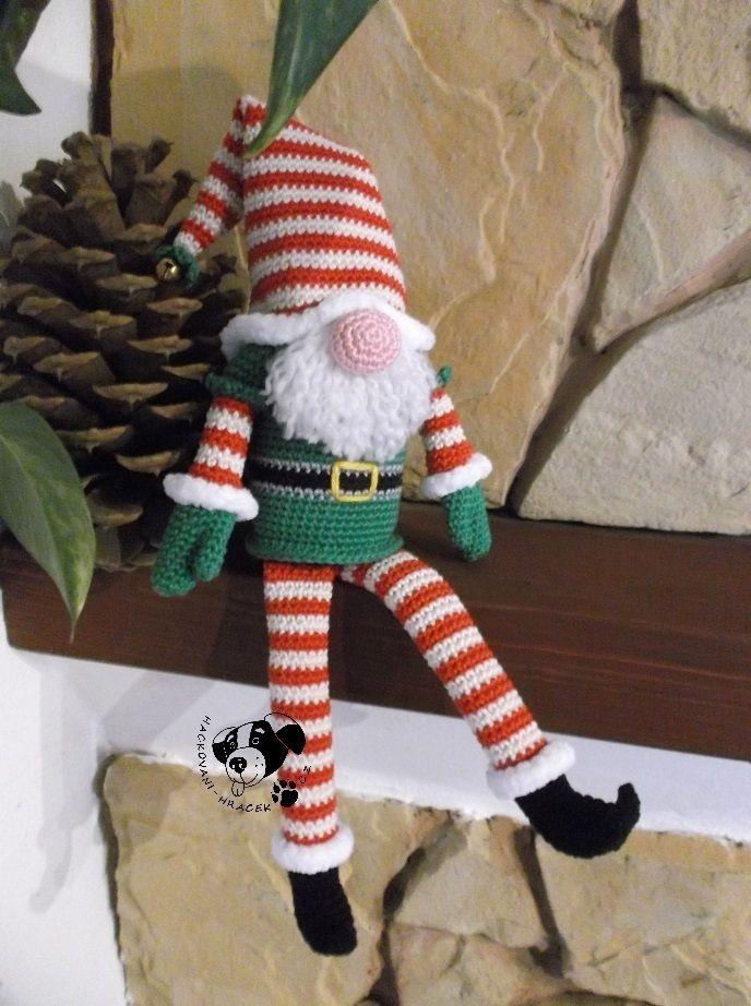 Vánoční skřítek - návod na háčkování