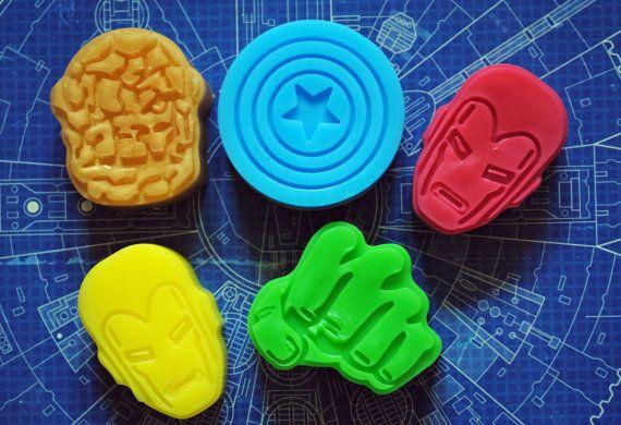 5 x Superhero Soap - savon inspiré des Vengeurs