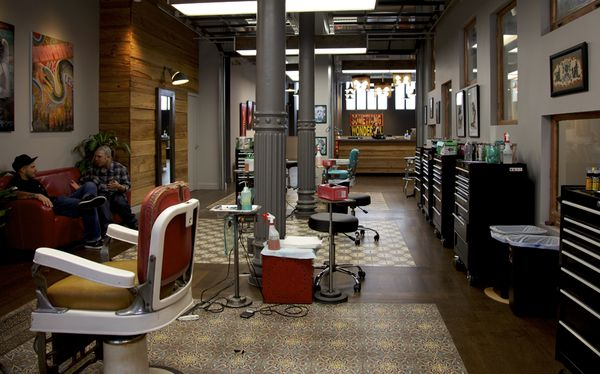 Gallery tattoo shop interior design ideas for Alaska tattoo shops