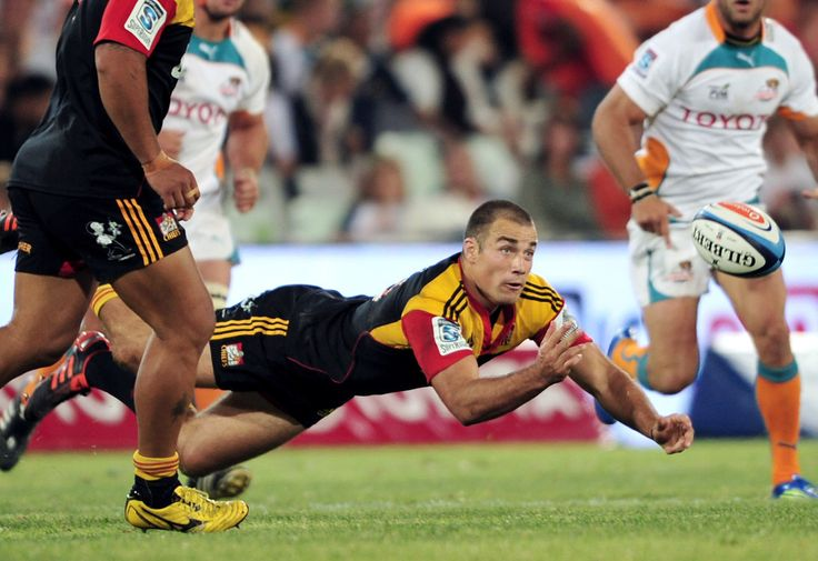 Richard Kahui of the Chiefs in action during the 2012 Super Rugby match between Toyota Cheetahs and Chiefs from Free State Stadium on April 14, 2012 in Bloemfontein, South Africa.