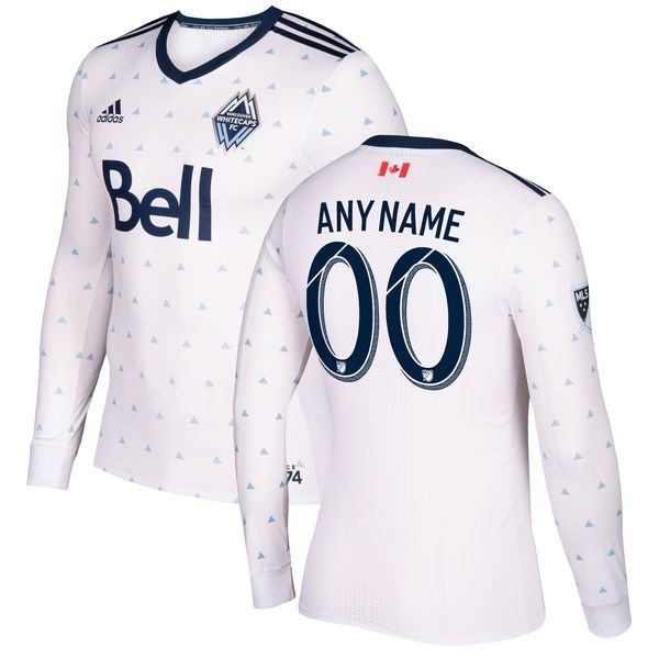 Vancouver Whitecaps FC adidas 2017 Primary Authentic Long Sleeve Custom Jersey - White - $179.99