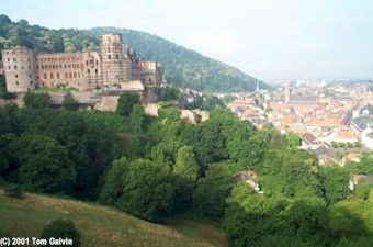 Heidelberg Castle Overlooking Downtown [Visited the castle several times - it was such a pleasant place to take a leisurely walk, and the views were very nice.]