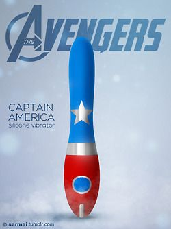 Captain America - silicon vibrator