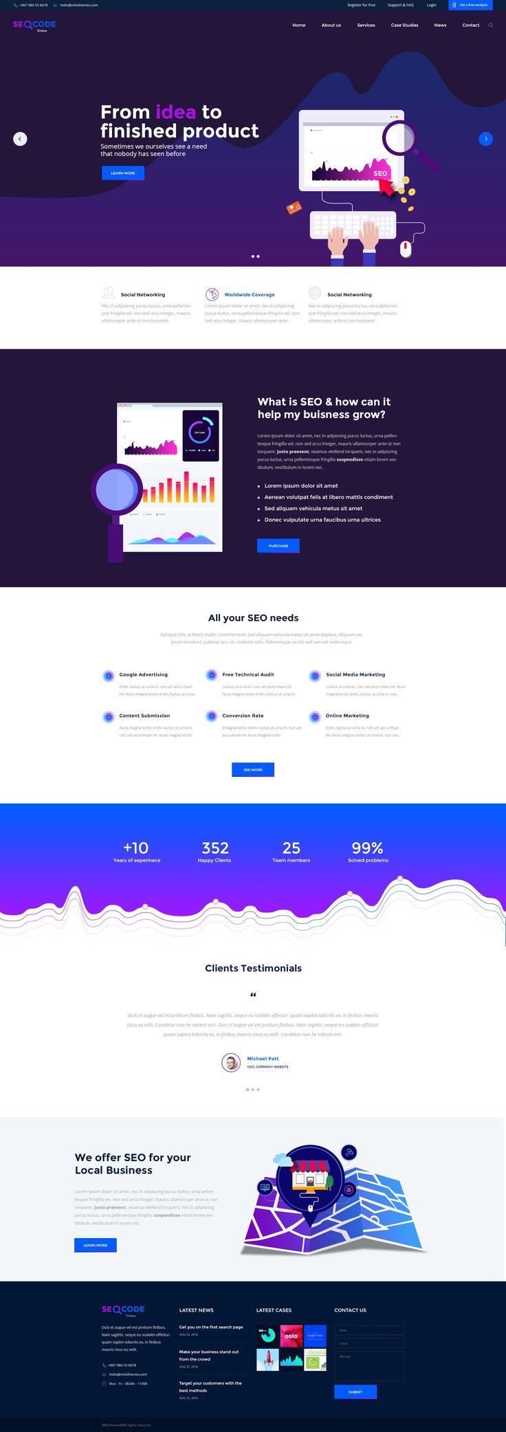 12 best SeoCode - The Ultimate SEO & Online Marketing PSD Template ...