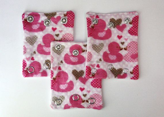 Pink Rubber Ducky Themed Onesie Extenders - For the new mom and baby to wear your onesies longer.