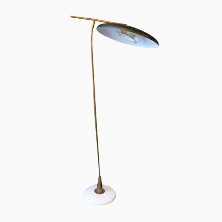 Elegant Italienische Mid Century Stehlampe mit Schwarzem Schirm er Jetzt bestellen unter https moebel ladendirekt de lampen stehlampen standleuchten uid ud