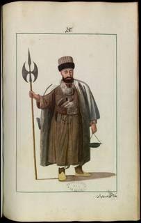 Dervish-Kalenderi,Recueil de costumes et vêtements de l'Empire ottoman au 18e siècle-Monnier, Joseph Gabriel (1745-1818 ; colonel du génie) Gallica,BnF