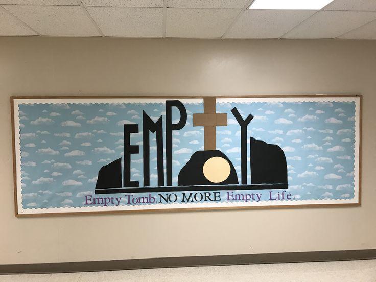 Mercer Christian Academy Easter Bulletin Board.