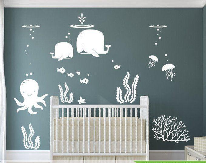 Sous La Mer Sticker Amis De L Ocean La Famille De Baleine