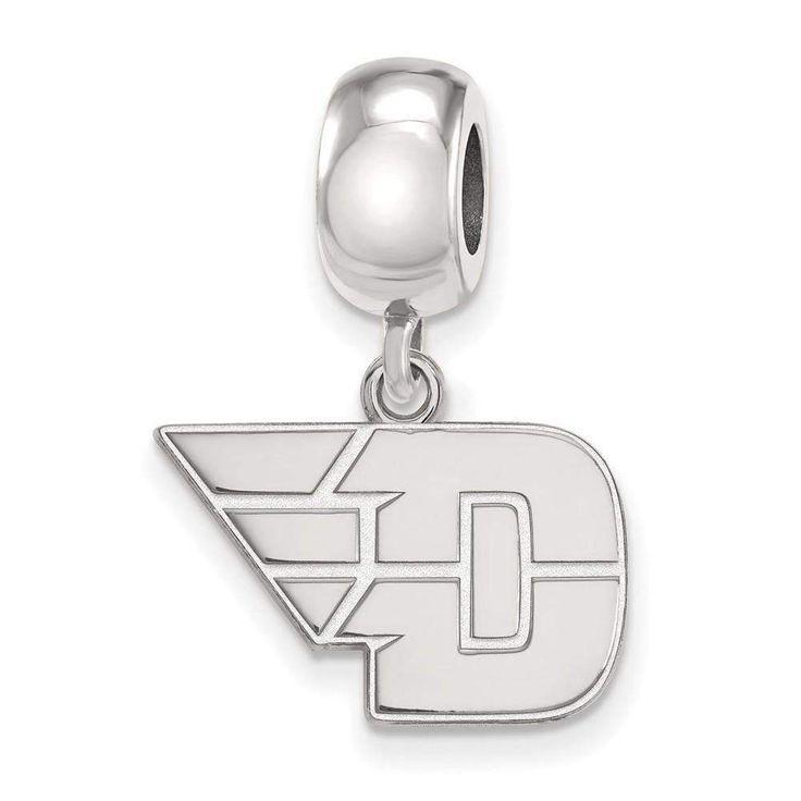 Sterling Silver LogoArt University of Dayton Small Dangle Bead