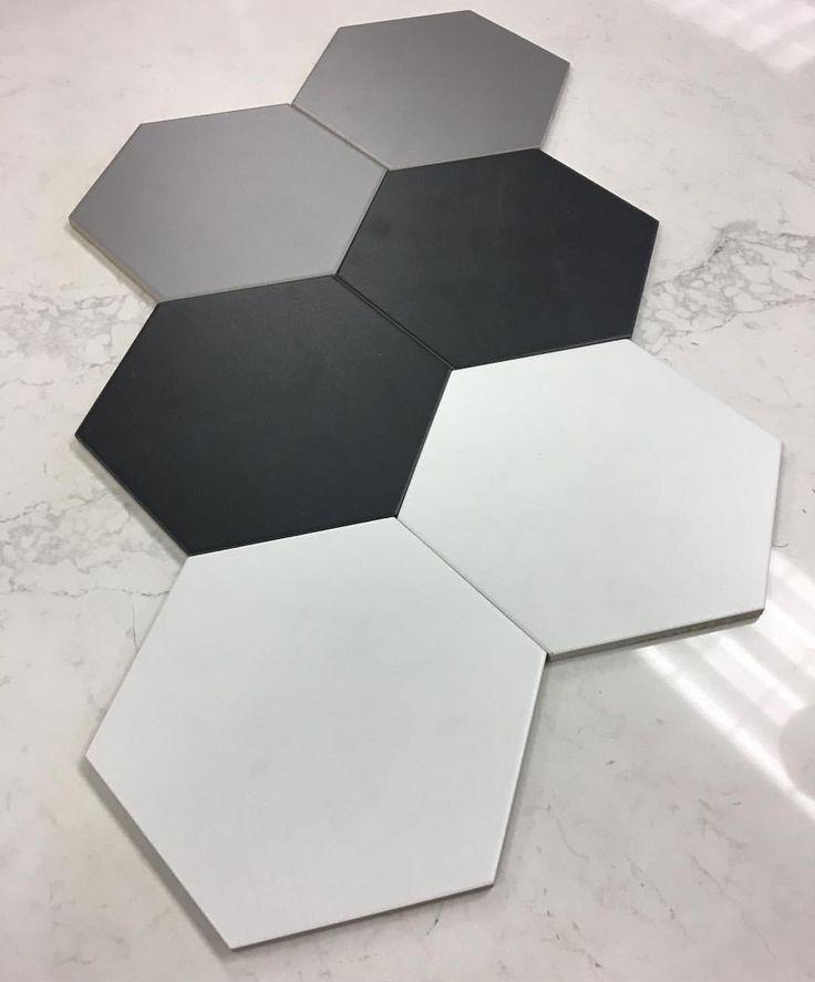 Hexagon fliser passer inn over alt og kan fås i alle farger