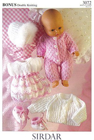 Cute sirdar knitting patterns for dolls clothes sirdar dolls clothes knitting pattern: all in one, dress, bootees, jacket, YQDDZCG