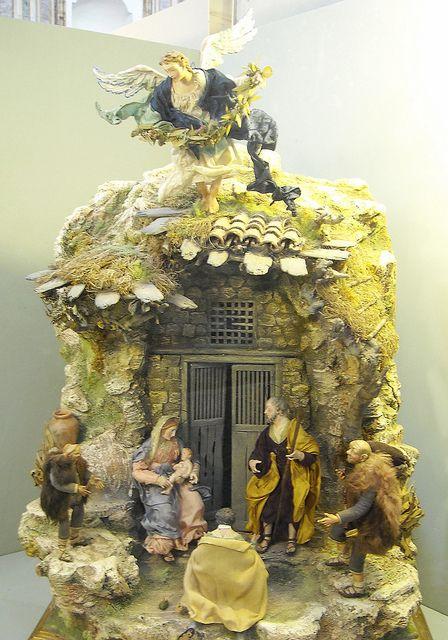 Modern crib, 18th century Neapolitan style - Temporary exhibition, until January 11, 2014 (free entrance) - Church of San Severo al Pendino ...