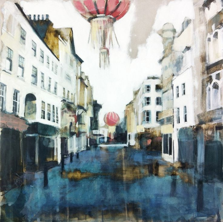 Wardour Street II © Camilla Dowse Original Art Painting Acrylic Gesso London UK