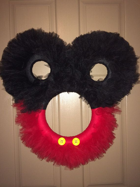 Mickey Mouse Tulle Wreath Disney Wreath Minnie Mouse
