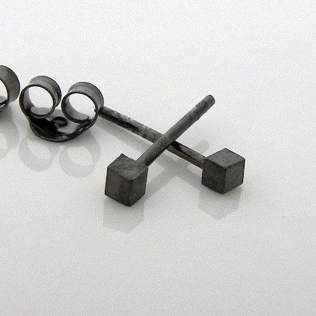 Men S Stud Earrings Studs Black Gold Tiny Cube Cartilage Earring Helix 465a Mens Fashion