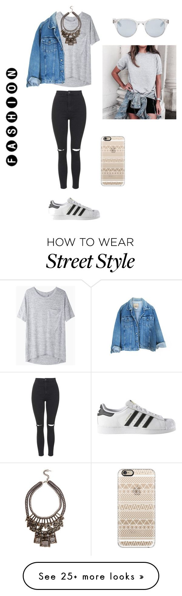 """Street style"" by zala-persolja on Polyvore featuring Topshop, rag & bone/JEAN, adidas, Sun Buddies and Casetify"