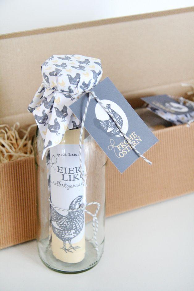 Eierlikör als Geschenkidee für Ostern / gift idea for Easter by GuteGaben via DaWanda.com