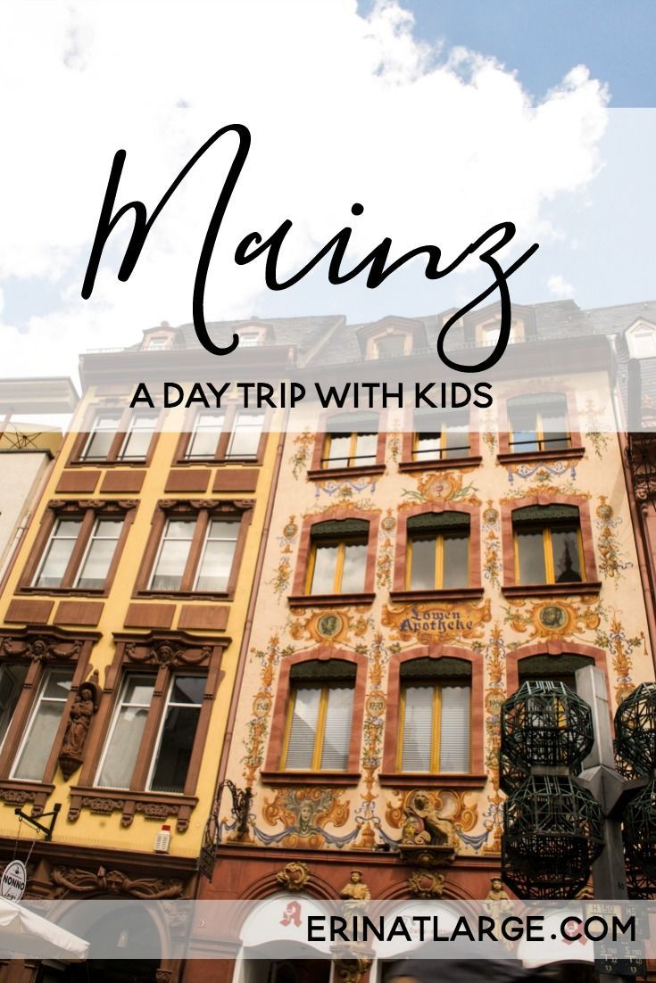Mainz is a great kid-friendly day trip destination in Germany - there's the Gutenberg Museum, a very walkable old town, and the banks of the Rhine to enjoy.  via @erinehm