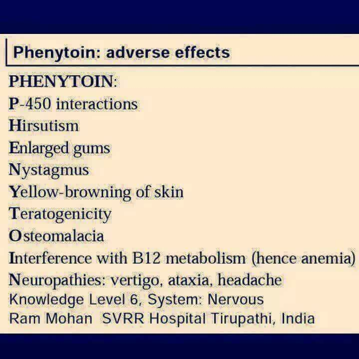 Phenytoin Side Effects Ati