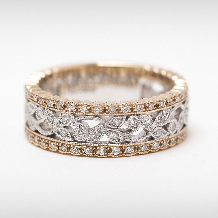 wide eternity bands rose gold - Google Search