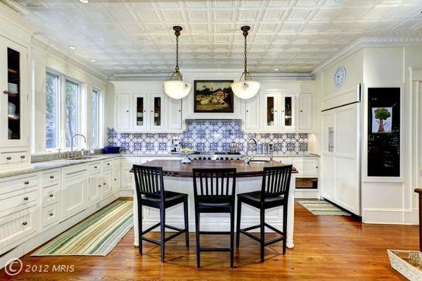 1000 ideas about tin ceiling kitchen on pinterest tin - American tin tiles wallpaper ...