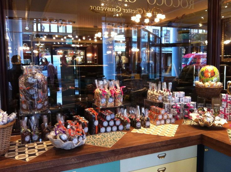 CHOCOLATIER Rococo has opened its first shop outside London with a concession in Chester's Grosvenor Hotel. Its other shops are in London's exclusive Belgravia, Chelsea and Marylebone. Chantal Coad…