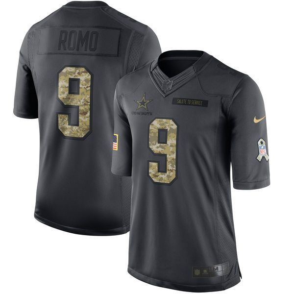 Tony Romo Dallas Cowboys Nike Salute to Service Limited Jersey - Anthracite - $159.99