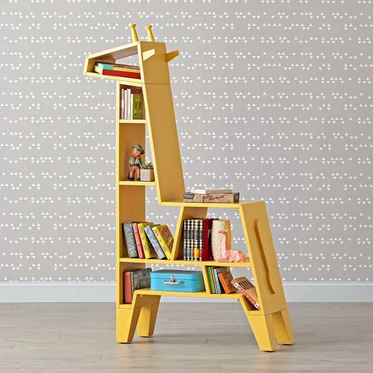 Giraffe Shape Bookshelves For The Kids' Room