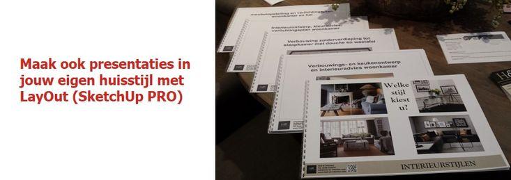 www.sketchupcursus.nl - maak presentaties, moodboards enz. in je eigen huisstijl met LayOut van SketchUp PRO