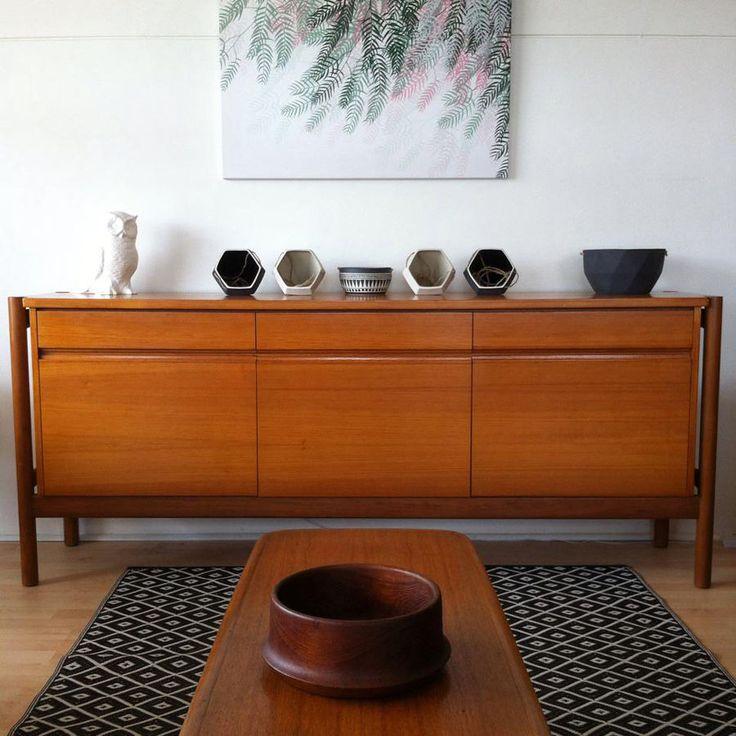 Vintage Fler sideboard buffet Danish midcentury teak style