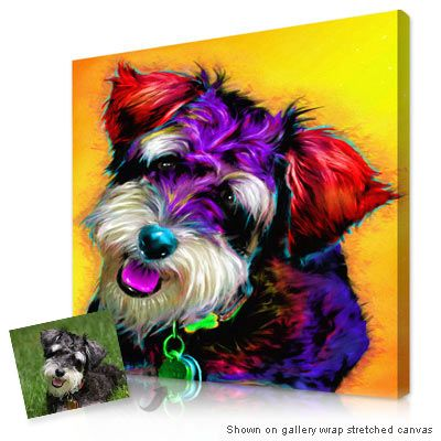 Pet glo® portrait Unique pet portraits that use very bright colors, realistic texture & brush strokes to capture the personality of your dog, cat or favorite pet.
