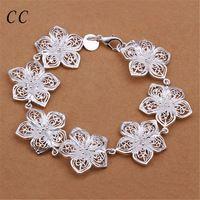 Цветение персика flovwer браслеты для женщин посеребренные любите украшения для…