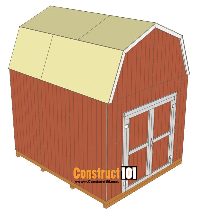 17 best ideas about 10x12 shed on pinterest 10x12 shed for Free gambrel shed plans with loft