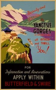 Yangtze_gorges_travel_poster_Free travel_poster_-by  vintagepoterso.com   Check us out for larger sizes