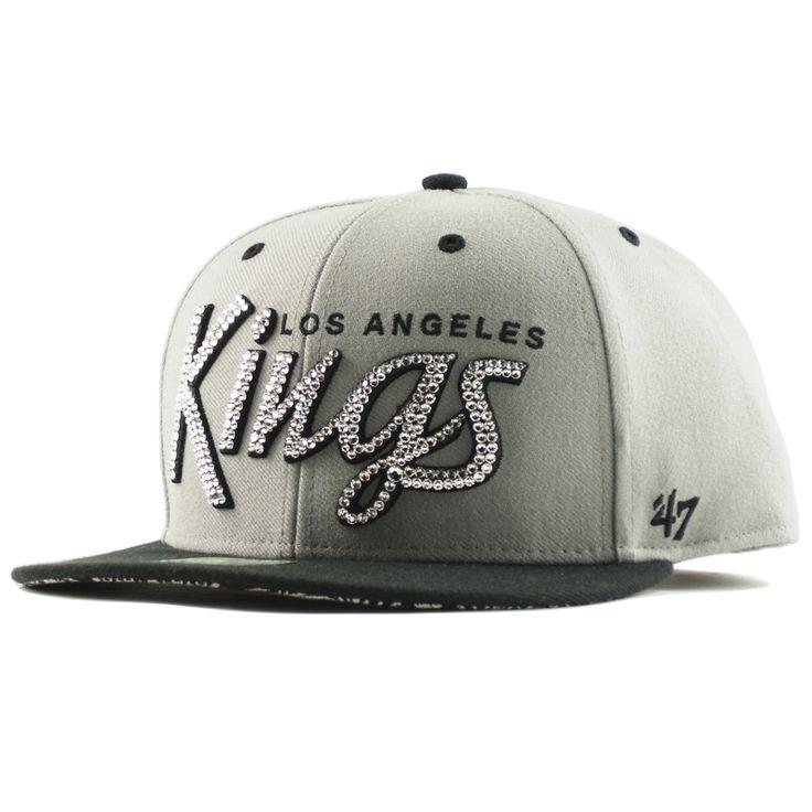 47ブランド スナップバック ペイズリー柄 LA キングス[Los Angeles Kings]グレー×ブラック