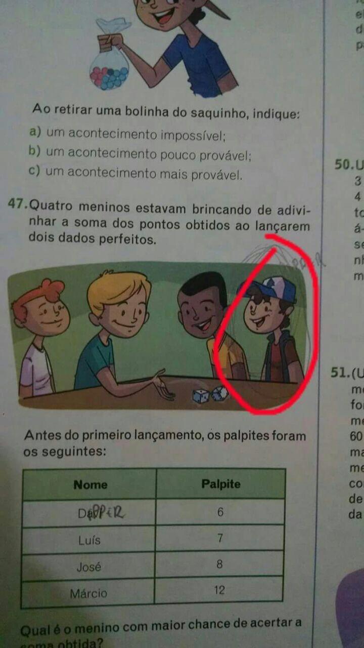 Gosh... Due Spanier haben wirklich die besten Lehrbücher!!! Dipper!!! Was machst du da? Da mochte wohl jemand Gravity Falls, was?
