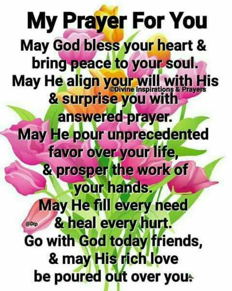 To my SiC: This is my prayer to all who read this lovely prayer...God bless you mightily.